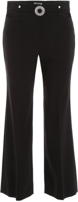 Miu Miu High Waisted Embellished Belt Pants