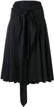 Dries Van Noten Pre Owned Belted Pleated Skirt