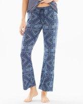 Soma Intimates Blue Patik Cotton Blend Pajama Pants Navy