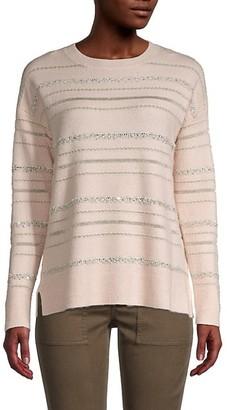 Calvin Klein Sequin-Striped Sweater