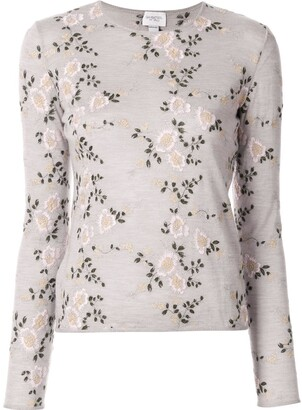 Giambattista Valli Floral Embroidered Sweater