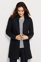 Lands' End Women's Petite Boiled Wool Parka-Dried Pine
