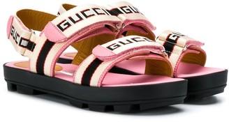 Gucci Kids Logo Strap Sandals