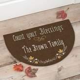 """""""Count Your Blessings"""" Half Round Door Mat"""