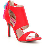 Betsey Johnson Ryan Tasseled Pom Pom Dress Sandals