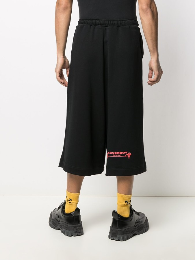 Thumbnail for your product : Charles Jeffrey Loverboy Oversize Graphic Print Shorts