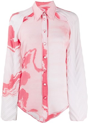 Thebe Magugu Zebramud tie-dye shirt