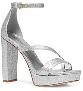 MICHAEL Michael Kors Women's Tanner Metallic Platform Sandals