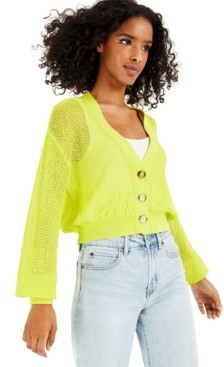 Bar III Cropped Cardigan, Created for Macy's