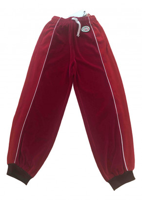 Gucci Red Velvet Trousers