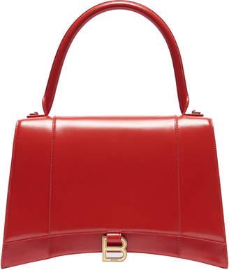 Balenciaga Hourglass Top Handle Medium Red