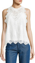 Carven Sleeveless Lace Top