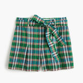 J.Crew High-waisted short in vintage plaid