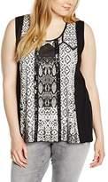 Via Appia Women's Crew Neck Sleeveless Vest - Black -