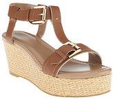G.I.L.I. got it love it G.I.L.I Leather T-strap Platform Wedge Sandals - Susanne