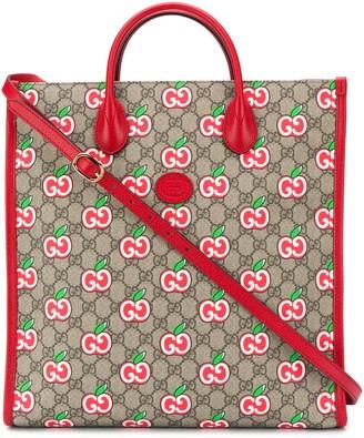 Gucci GG apple pattern tote