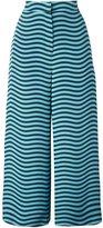 Fendi wavy print culottes - women - Silk - 42