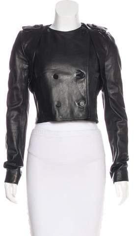 Alexander Wang Velvet-Trimmed Leather Jacket