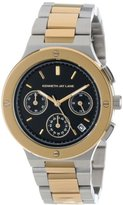 Kenneth Jay Lane Women's KJLANE-2128 Chronograph Black Dial Two Tone Stainless Steel Watch