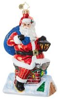 Christopher Radko Chimney Climber Santa Figurine