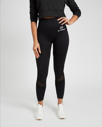 EN GARDE Apparel - Women's Black Sports Tights - Noir Seamless Leggings - Size One Size, S at The Iconic