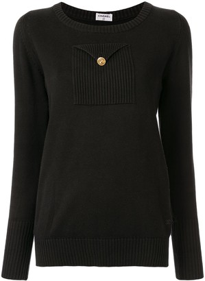 Chanel Pre-Owned chest pocket jumper