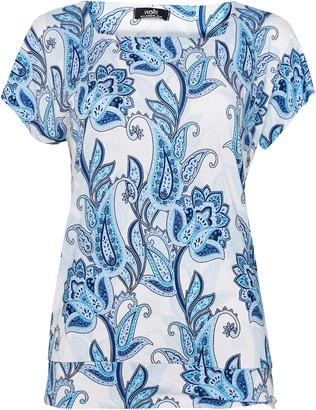 Wallis Blue Paisley Printed Shell Top
