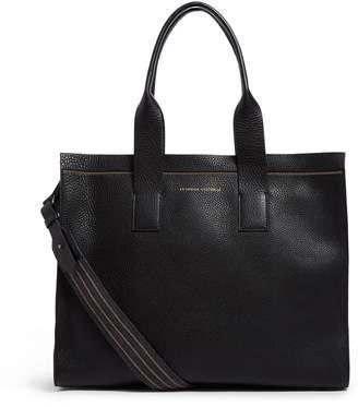 Brunello Cucinelli Large Leather Shopper Bag