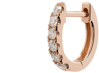 Roxanne First 14kt Rose Gold Huggie Hoop Earring