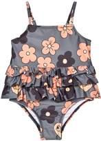 Mini Rodini Grey Flower Frill Swimsuit