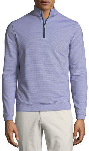 Peter Millar Men's Perth Micro-Stripe Half-Zip Sweater
