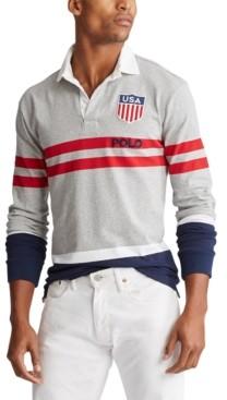 Polo Ralph Lauren Men's Big & Tall Classic Fit Cotton Jersey Rugby Shirt