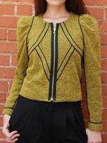 BENSONI boiled wool piped jacket