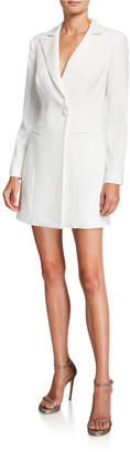 Jay Godfrey Ace One-Button Long-Sleeve Blazer Mini Dress