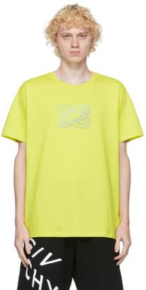 Givenchy Green Infinity Rings Logo T-Shirt