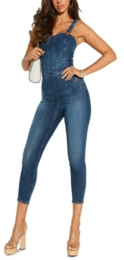 GUESS Eco Rosemary Fitted Denim Jumpsuit