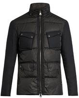 John Varvatos Hooded Contrast-panel Down Coat