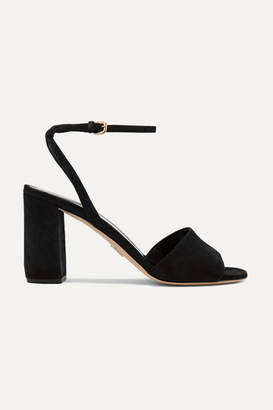 Prada 85 Suede Sandals - Black
