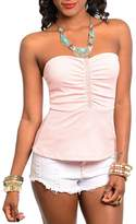 Adore Clothes & More Beaded Strapless Top