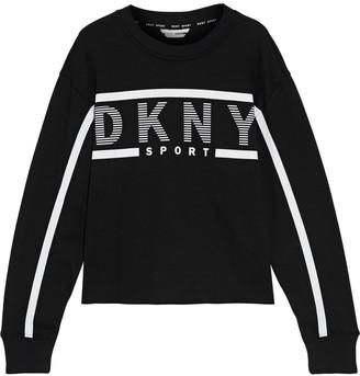 DKNY Printed Cotton-blend Fleece Sweatshirt