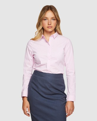 Oxford Angel Striped Stretch Shirt