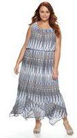 Plus Size AB Studio Chevron Maxi Dress