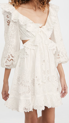 Zimmermann Lulu Scallop Mini Dress