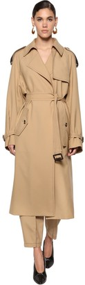 Marni Fluid Wool Gabardine Trench Coat