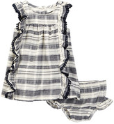 Jessica Simpson Slub Textured Dress & Bloomer Set (Baby Girls)