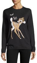 Markus Lupfer x Disney® Bambi Sequined Natalie Jumper, Charcoal