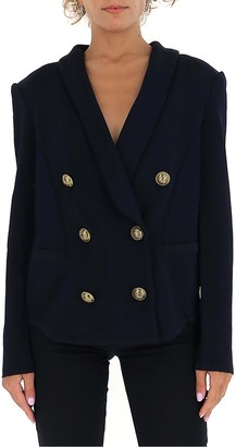 Balmain Double-Breasted Padded Shoulder Blazer