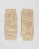 Vila Knitted Fingerless Mittens