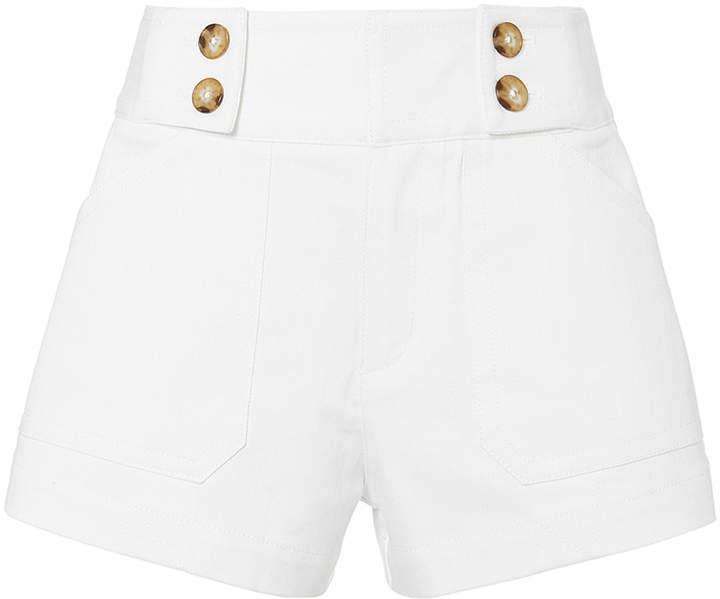Derek Lam 10 Crosby White Denim Sailor Shorts
