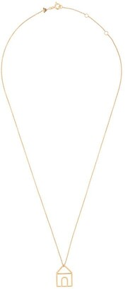 ALIITA 9kt Yellow Gold House Pendant Necklace